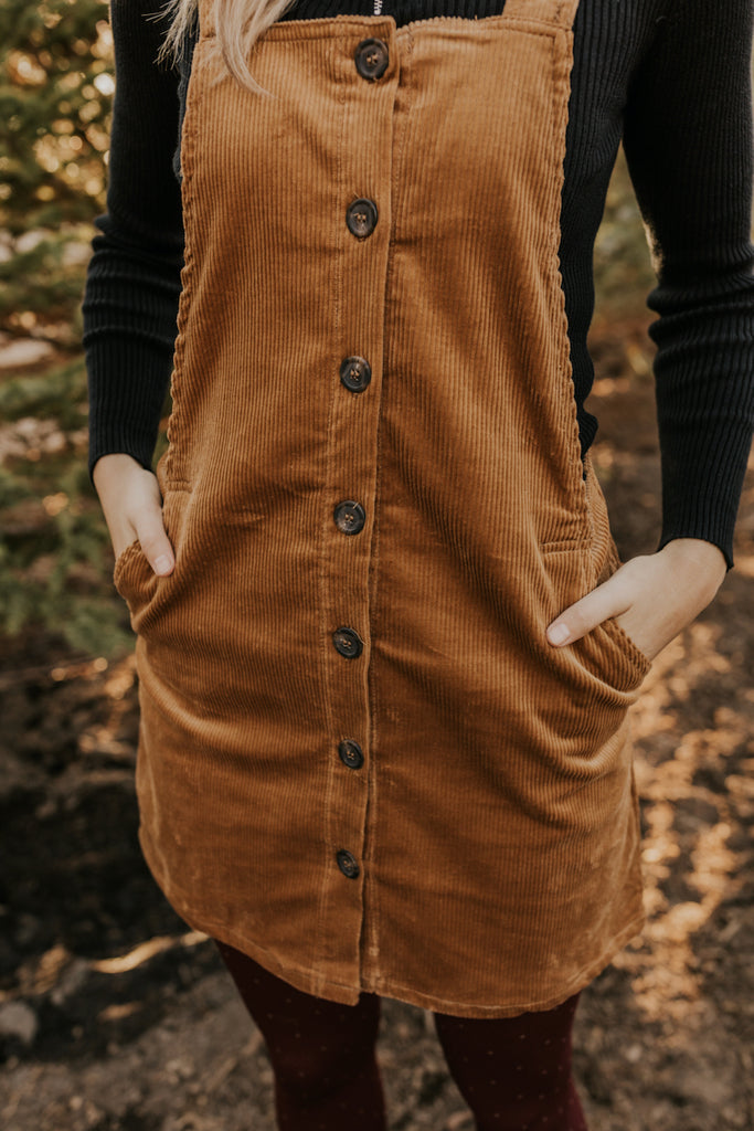 Button Down Corduroy Jumper | ROOLEE