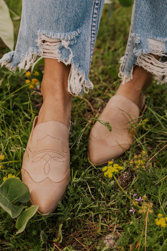 Women's Leather Mules | ROOLEE