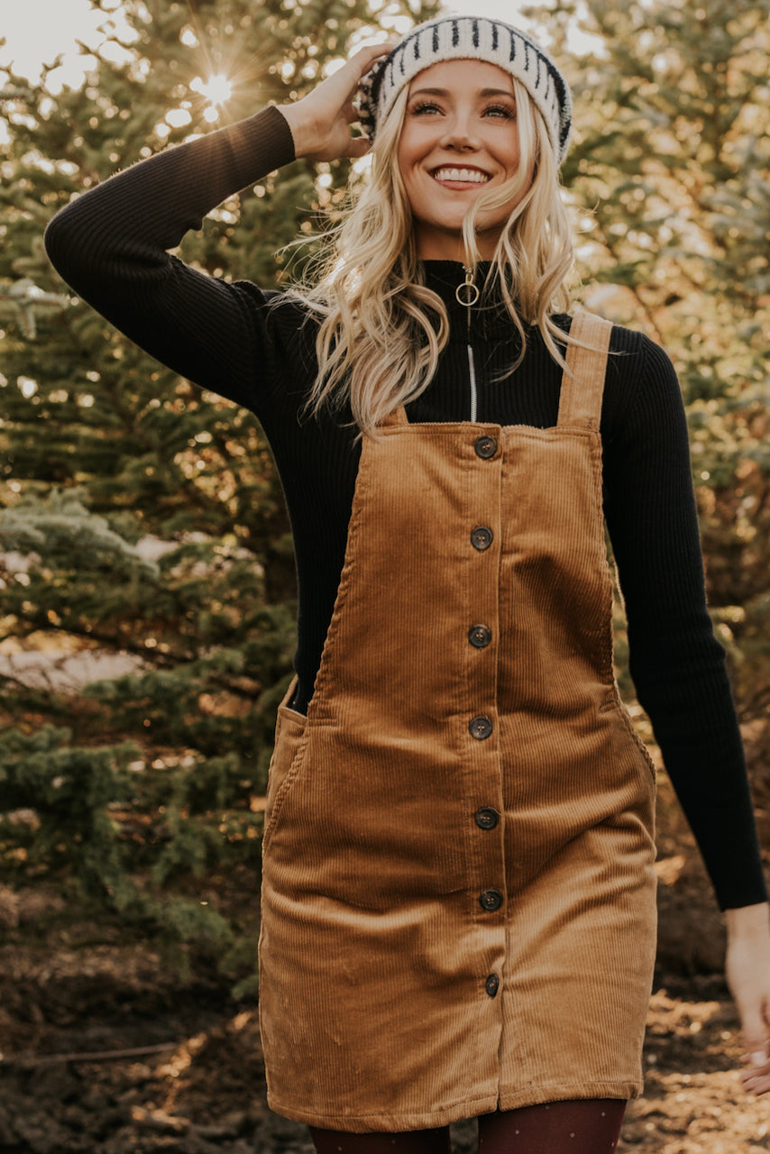 Square Neck Corduroy Jumper | ROOLEE