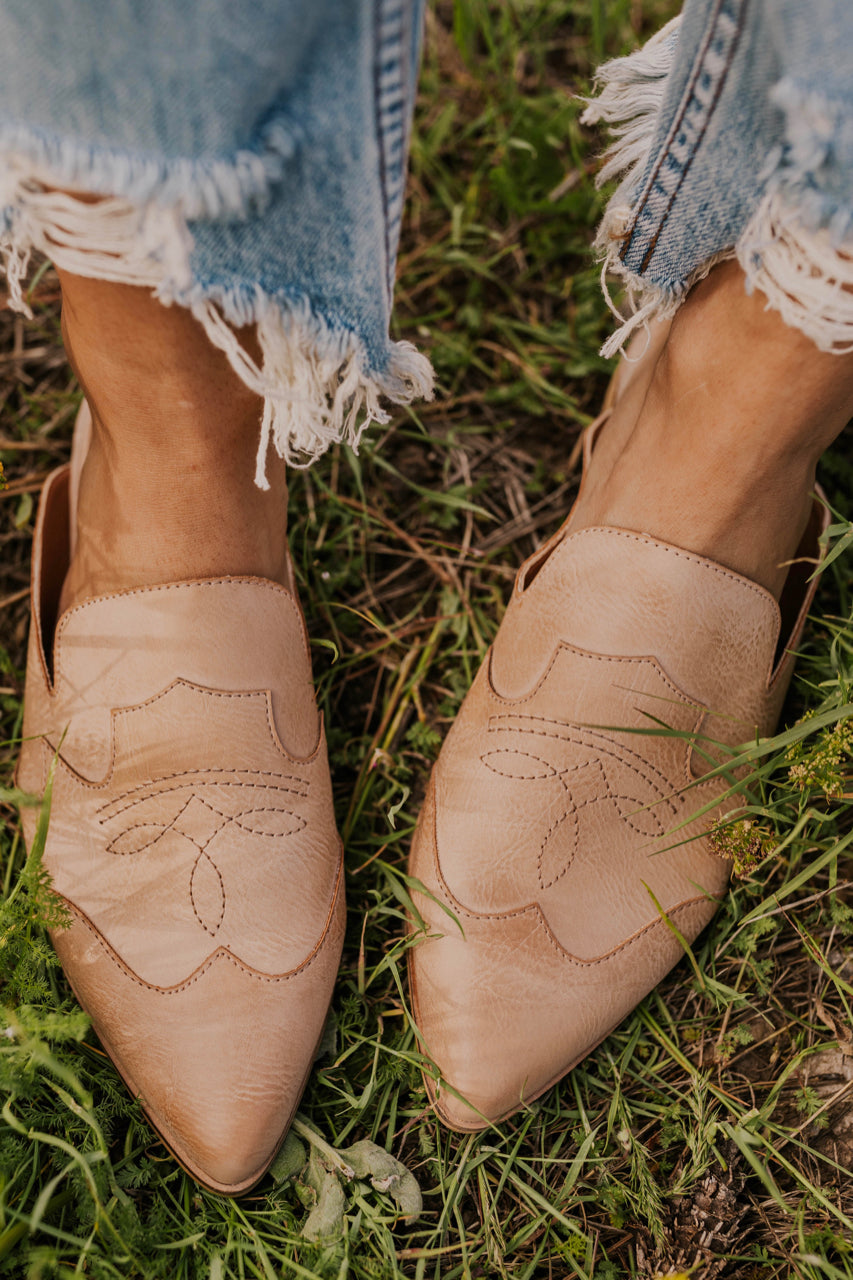Rose Leather Mules | ROOLEE