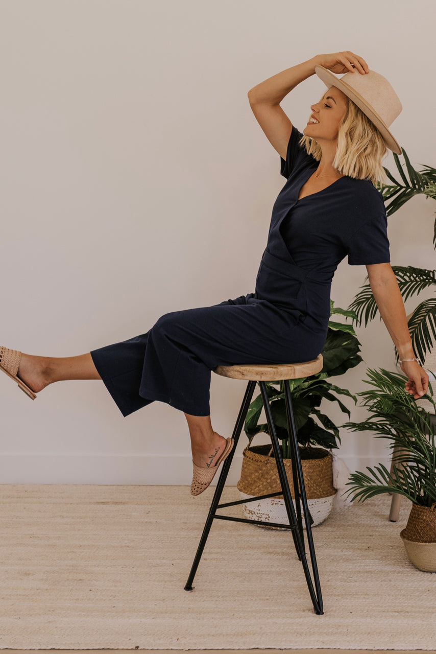 Navy Jumpsuit Outfit Ideas | ROOLEE