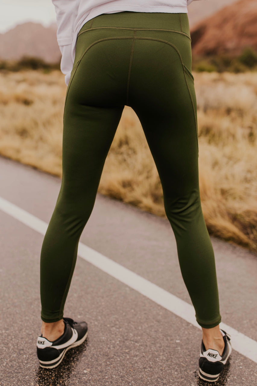 Green Leggings for Women | ROOLEE