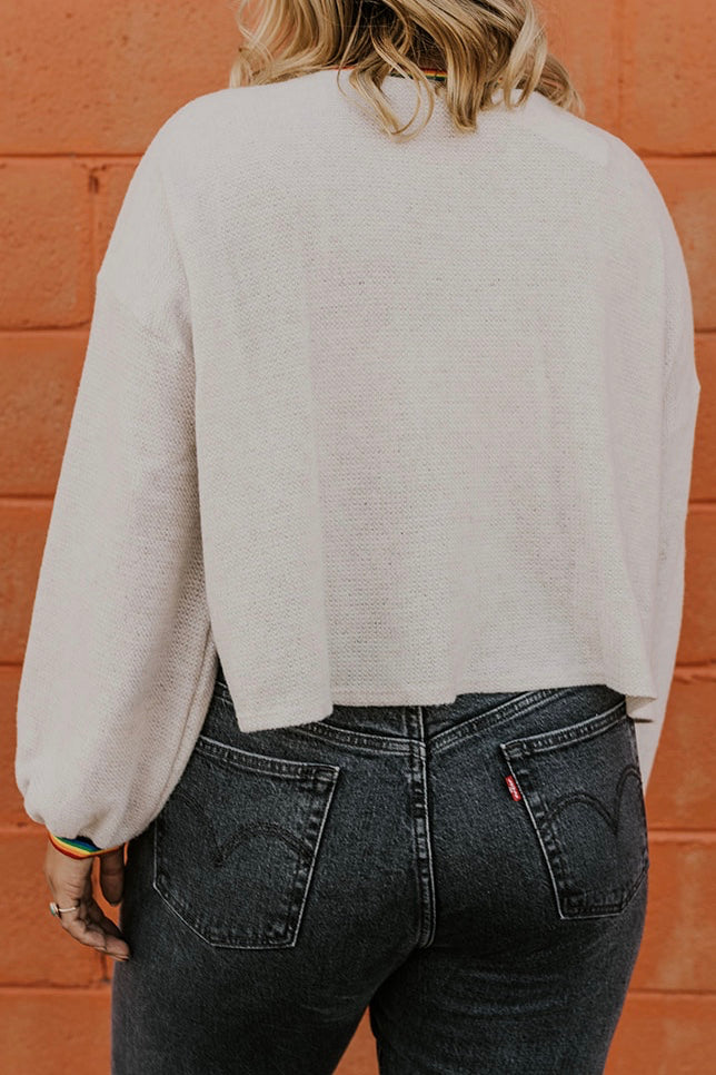 Rainbow Contrast Pullover | ROOLEE
