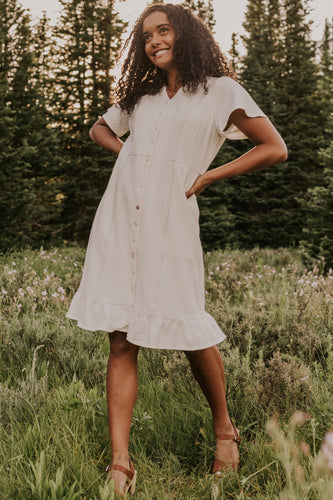 Grimm Button Dress | ROOLEE