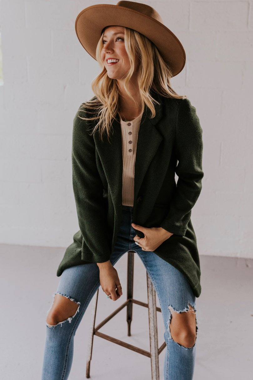 Dark Green Coat | ROOLEE