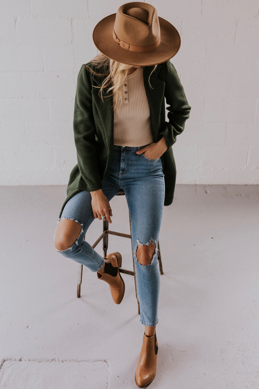 Fancy Dark Green Coat | ROOLEE