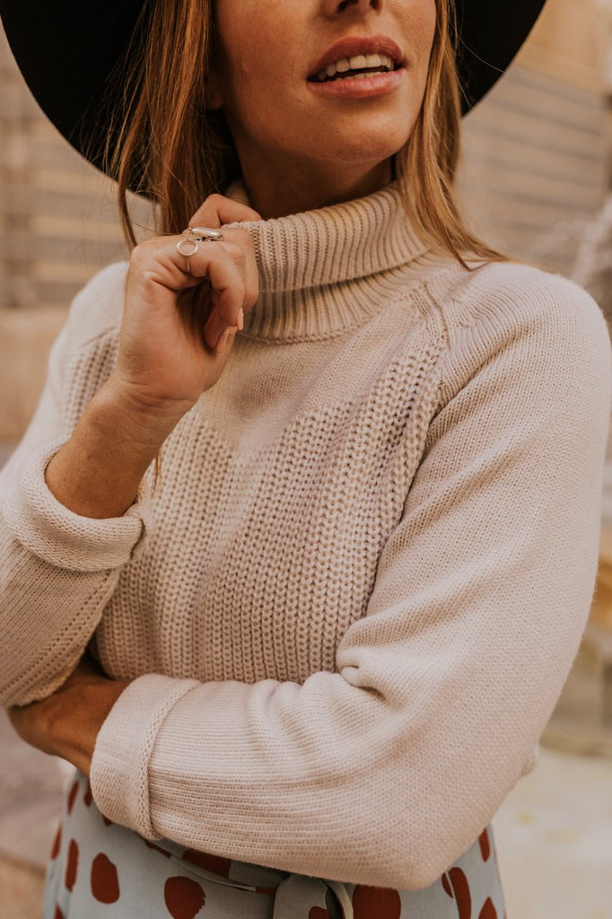 Knitted Turtleneck Sweater for Winter Wear  | ROOLEE
