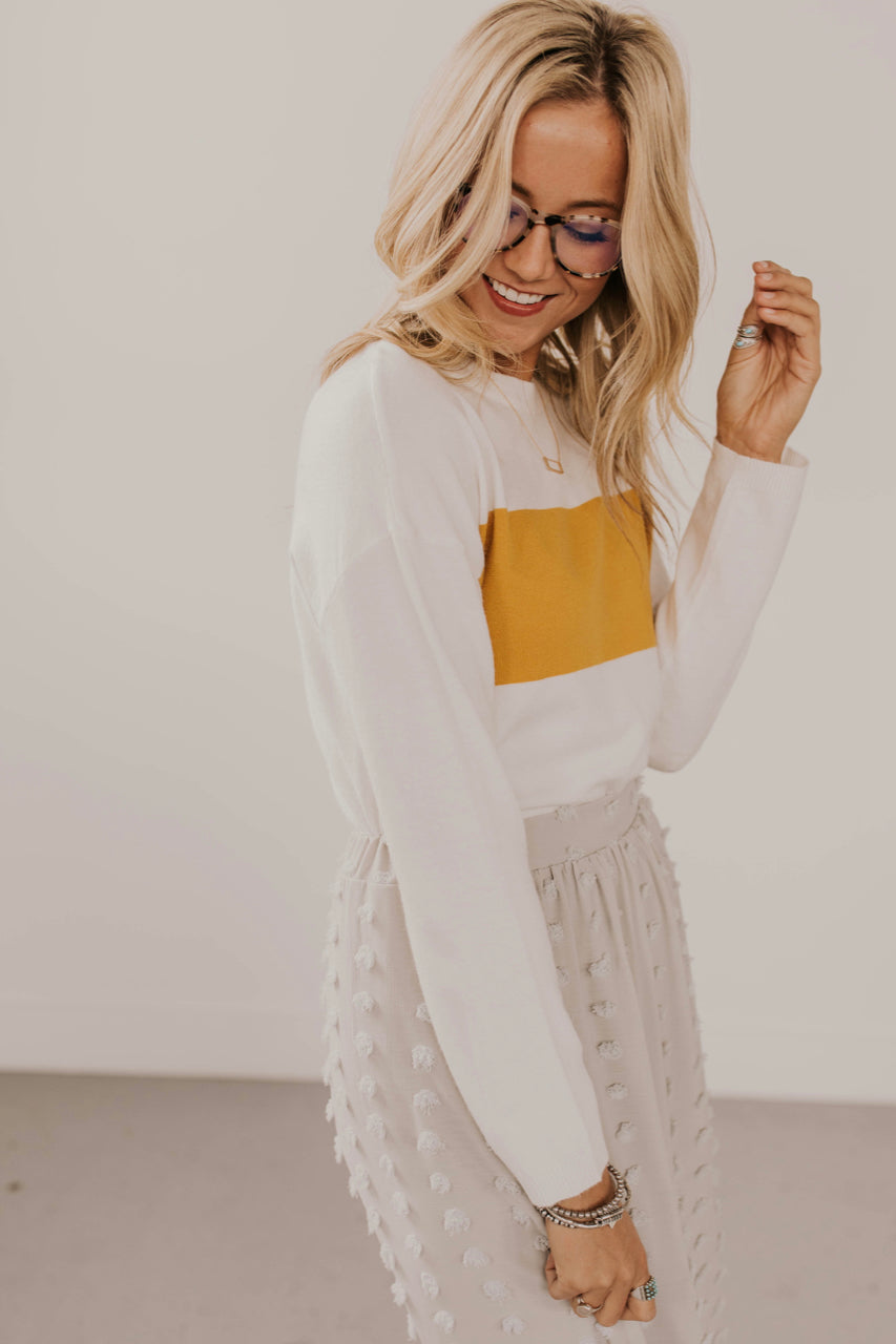 Mustard Stripe Sweater | ROOLEE