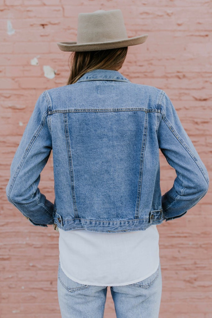 Button Up Denim Jacket | ROOLEE
