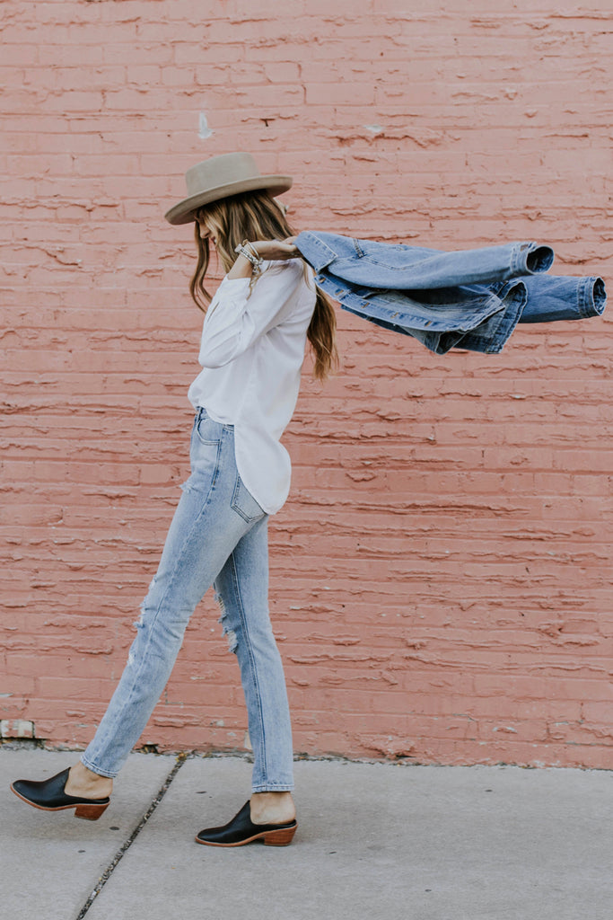Denim Jacket Outfit | ROOLEE