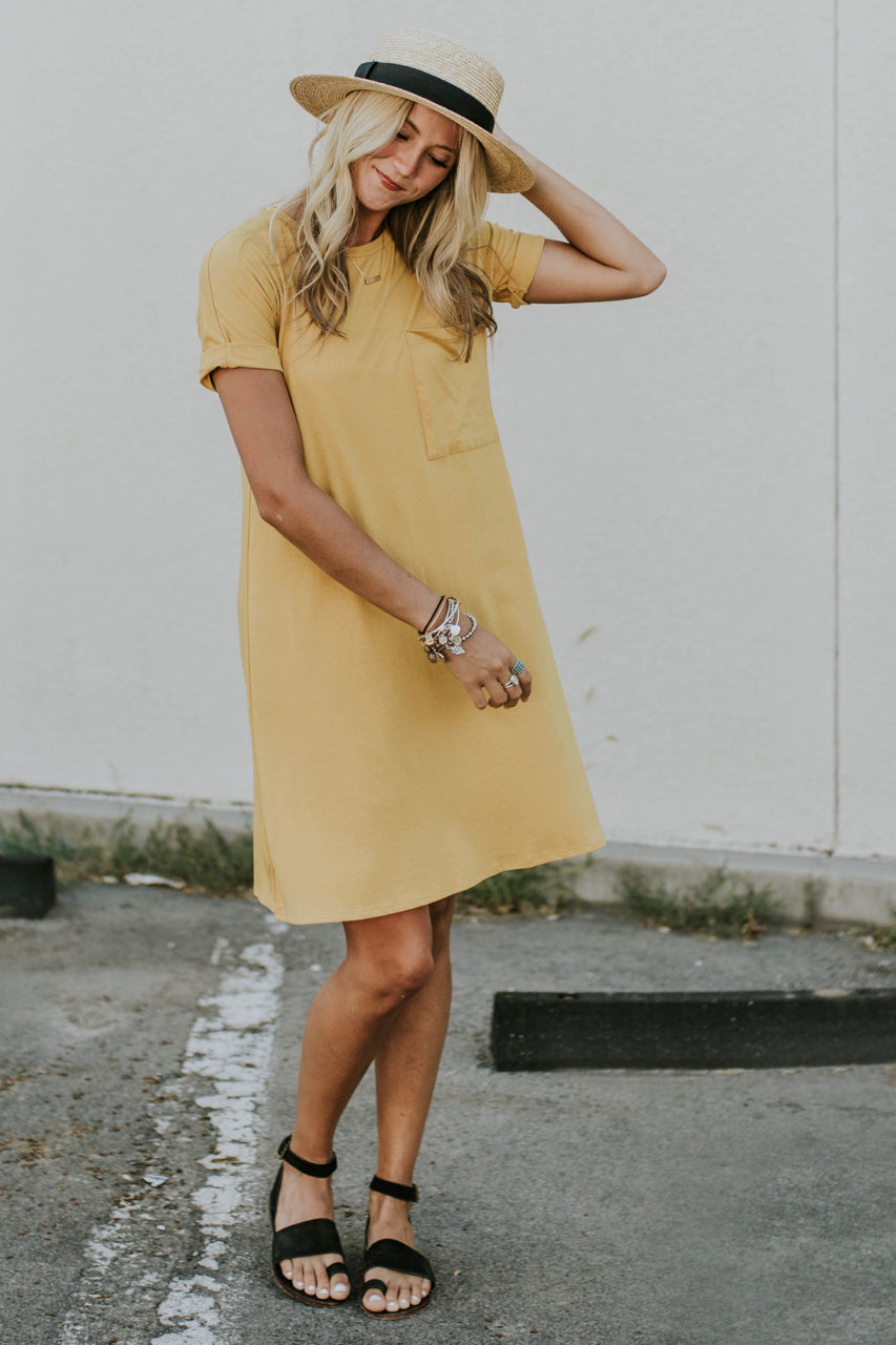 Yellow Pocket Dress | ROOLEE