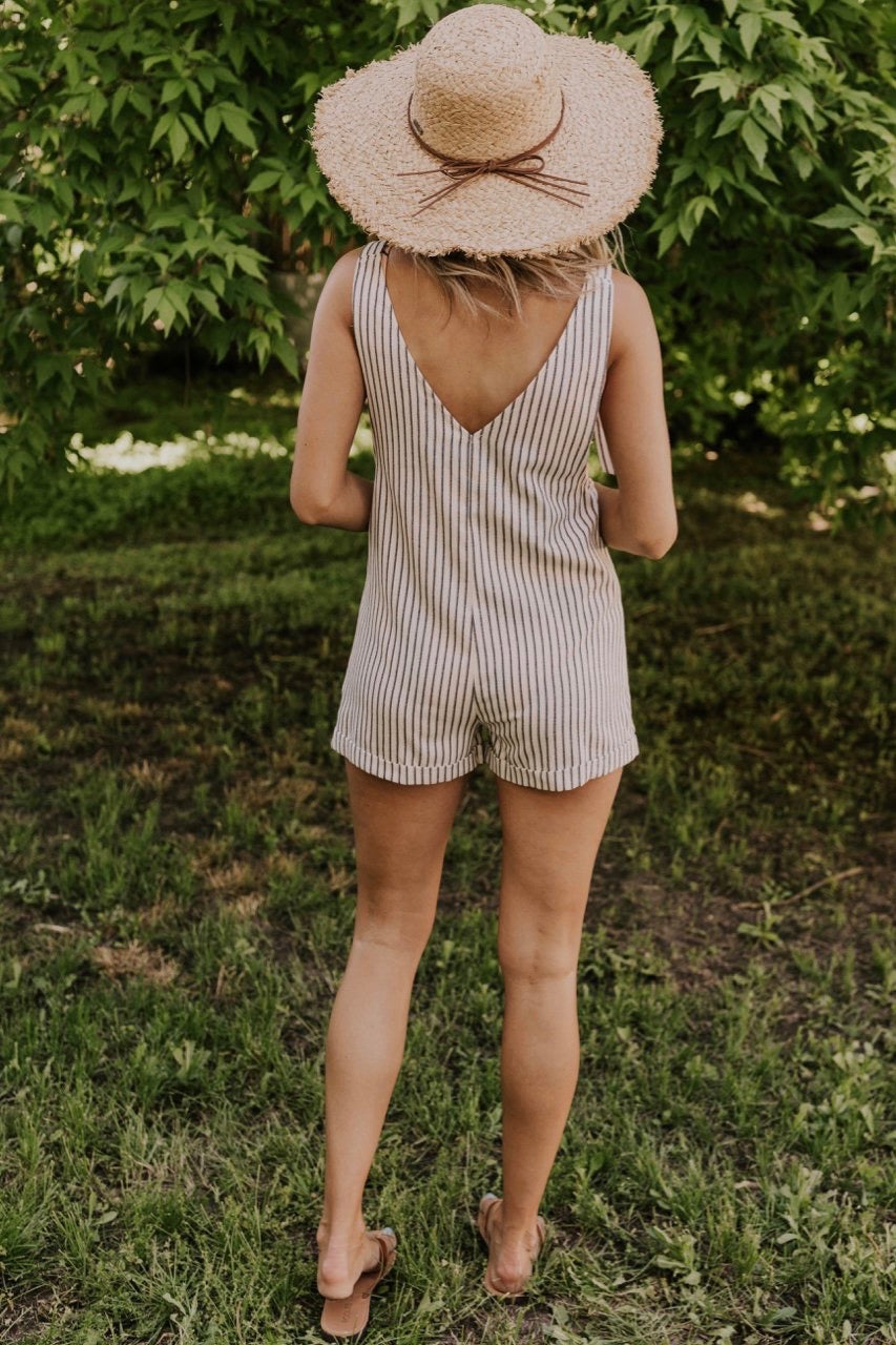 Stripe Swim Cover Romper | ROOLEE