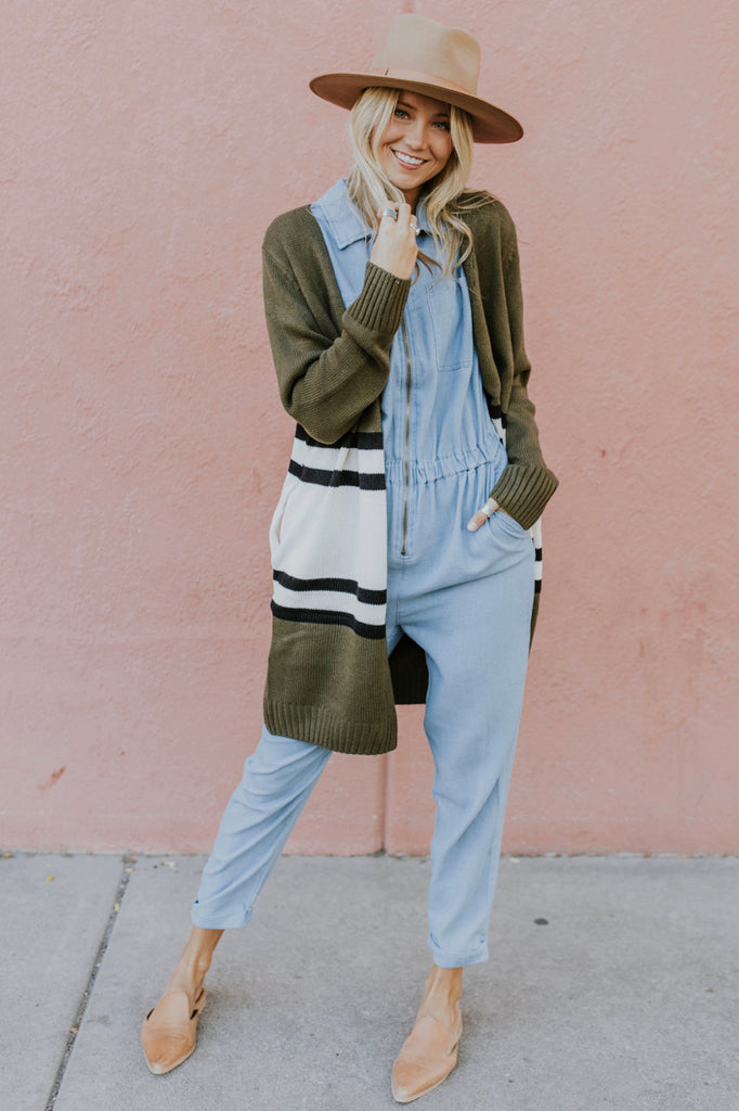 Women's Cardigan Outfit for Fall | ROOLEE
