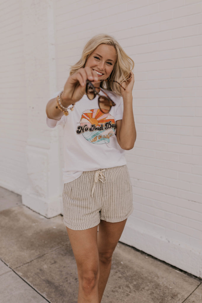 Casual Stripe Shorts | ROOLEE