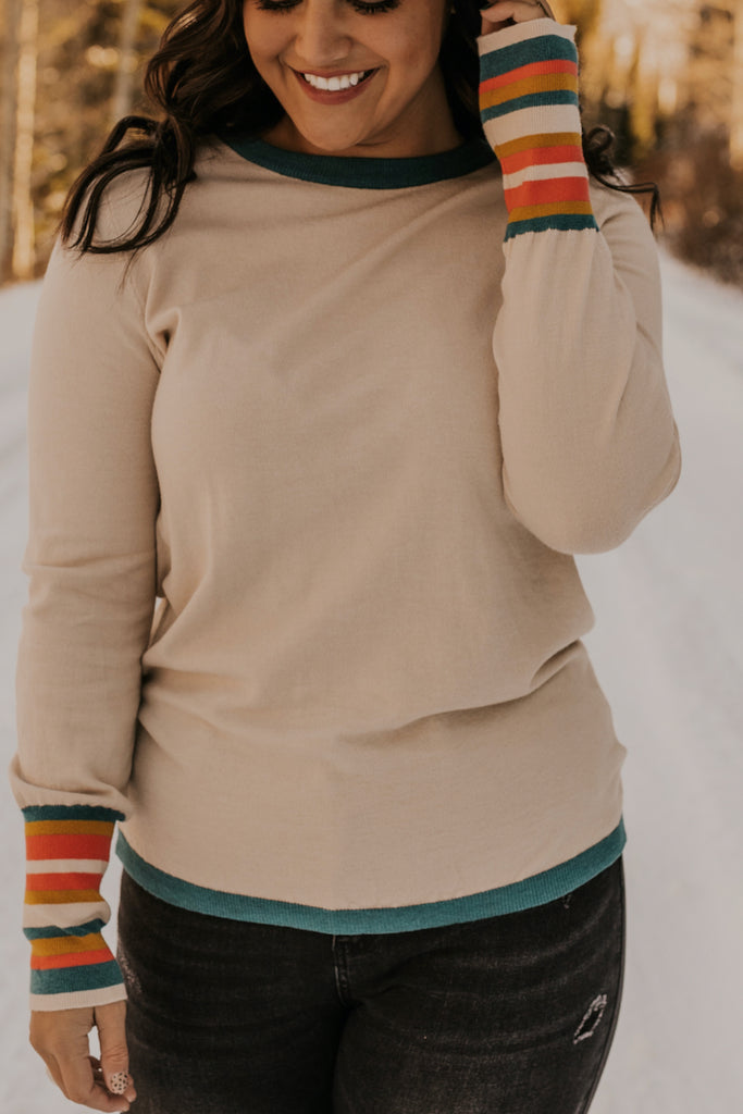 Accent Neutral Detail Winter Sweater | ROOLEE