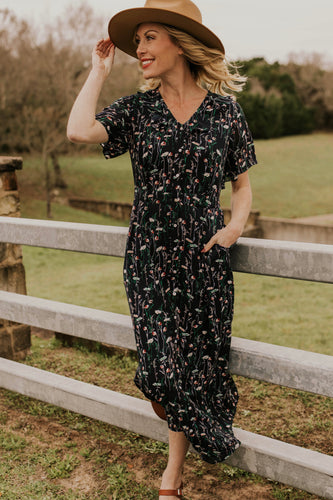 Long Floral Nursing Friendly Maxi Dress | ROOLEE