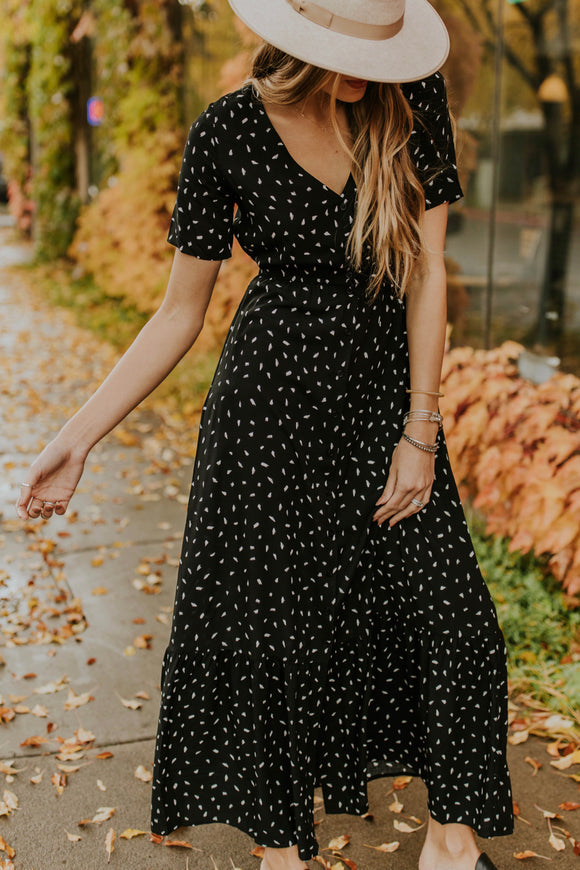 Print Maxi Dress Outfit Ideas for Fall | ROOLEE