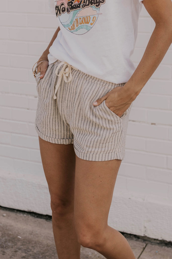 Stripe Shorts with Pockets | ROOLEE