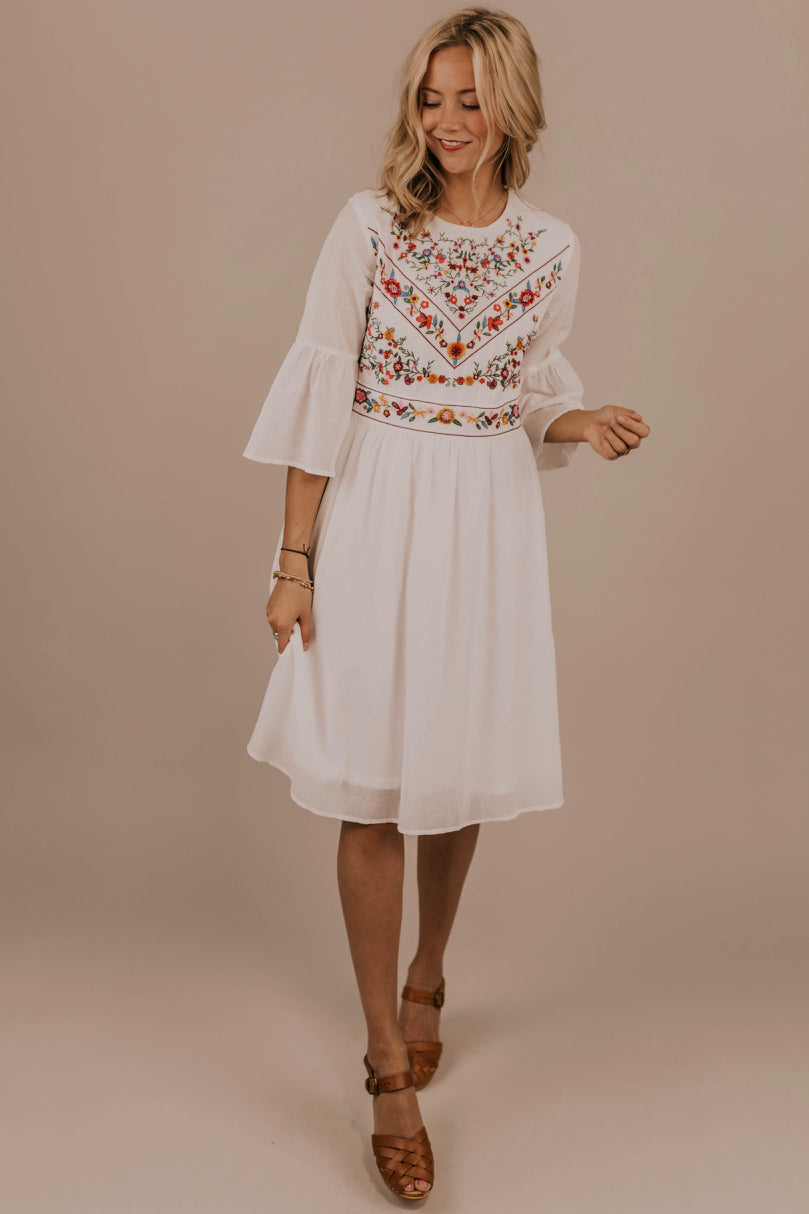 Modest Embroidery Dress | ROOLEE