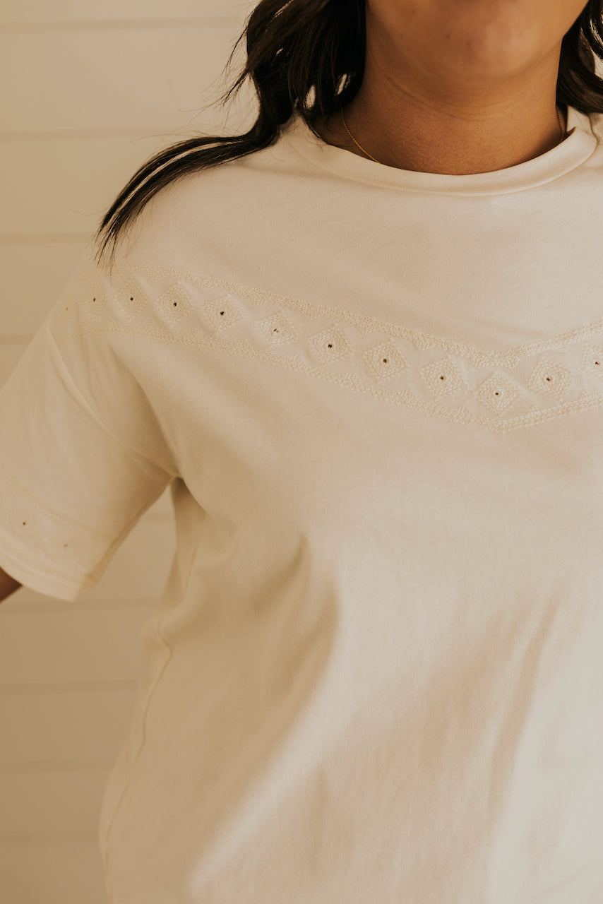 White Short Sleeve Top | ROOLEE