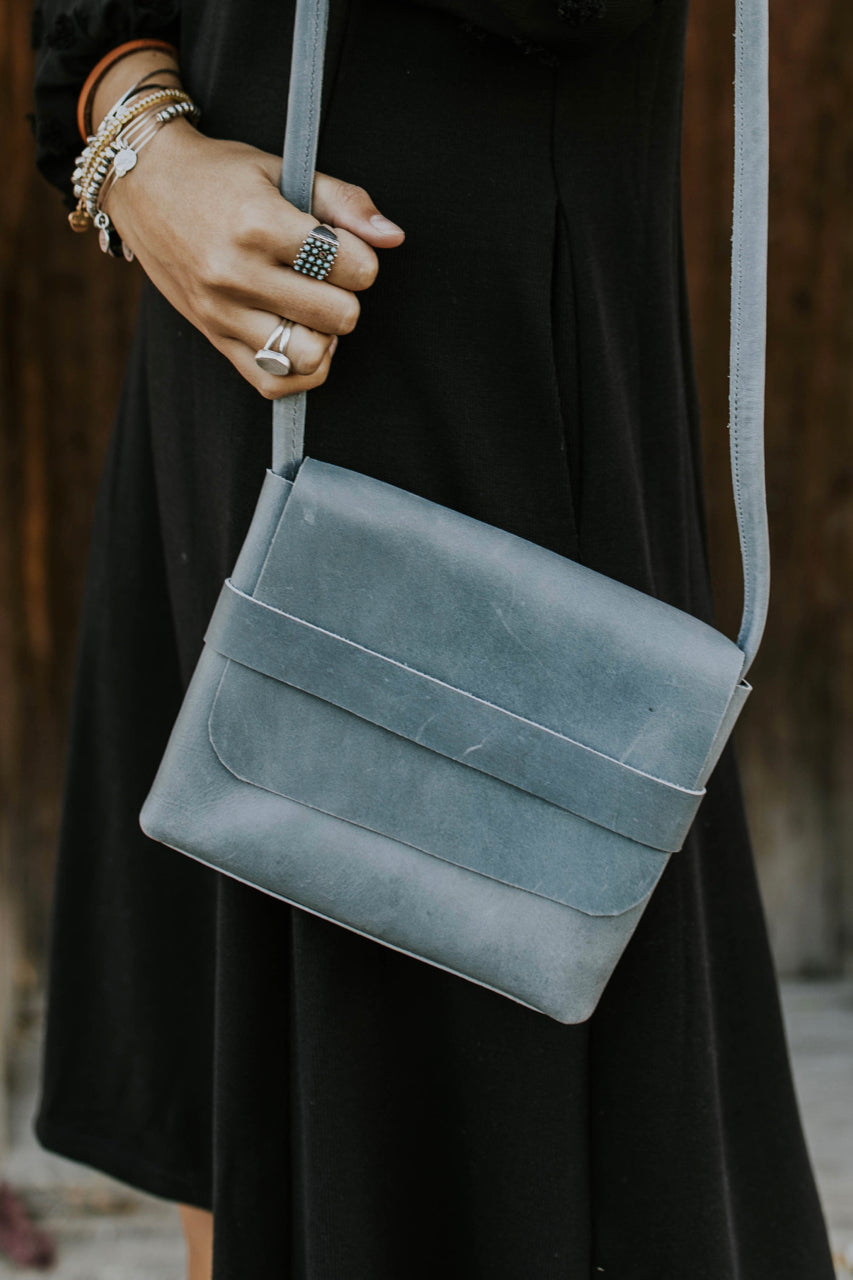 Washed Blue Crossbody | ROOLEE