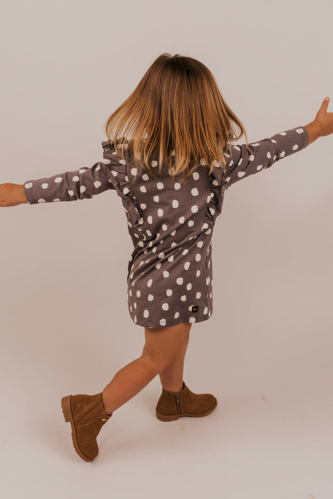 Dot Dress with Ruffles | ROOLEE