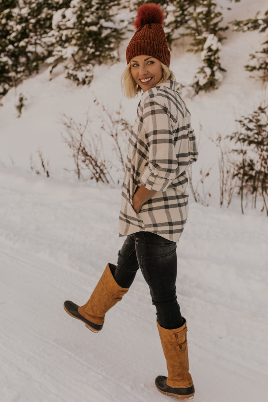 Plaid Tunic Outfits for Winter | ROOLEE