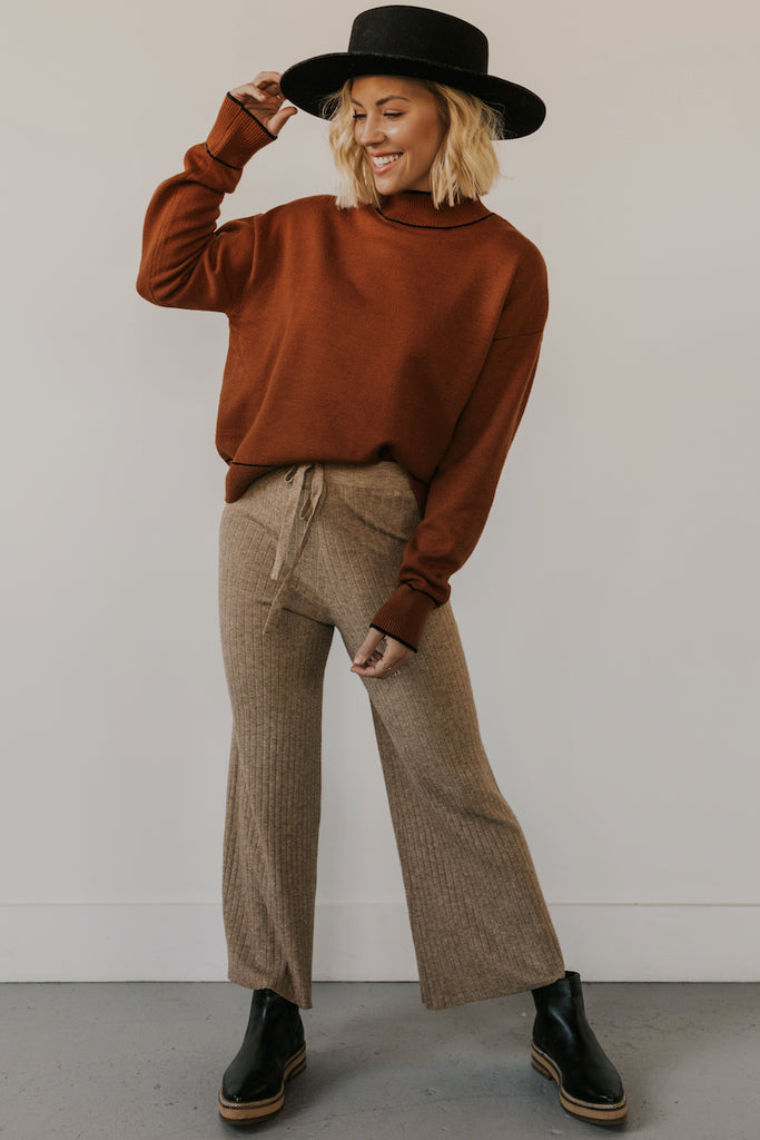 Tan Knit Pants | ROOLEE