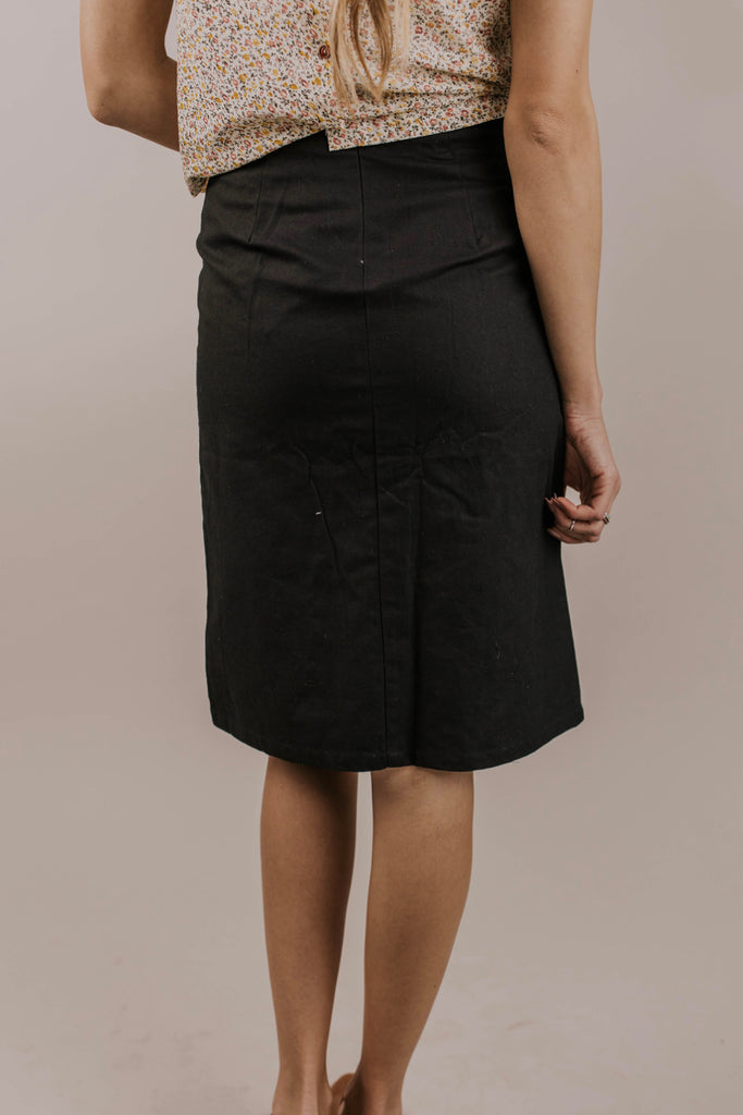 Black Pencil Skirt | ROOLEE