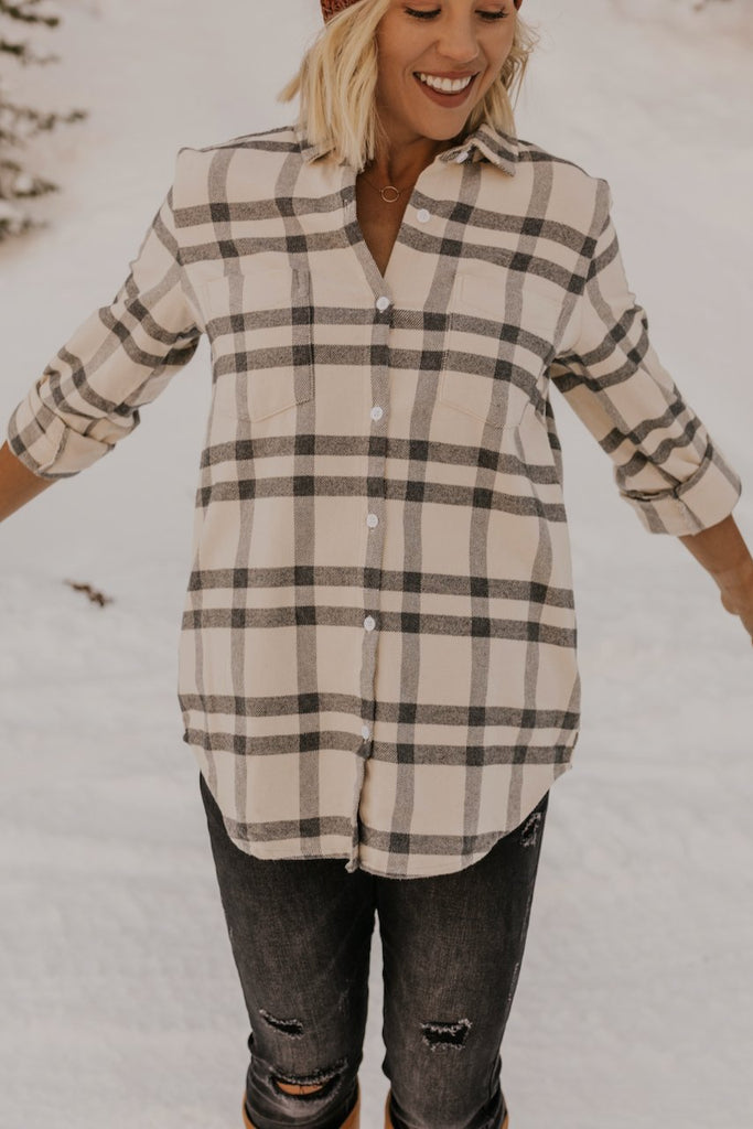 Button Down Plaid Tunic | ROOLEE