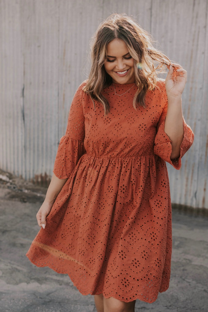 Rust Spring/Summer Dress | ROOLEE