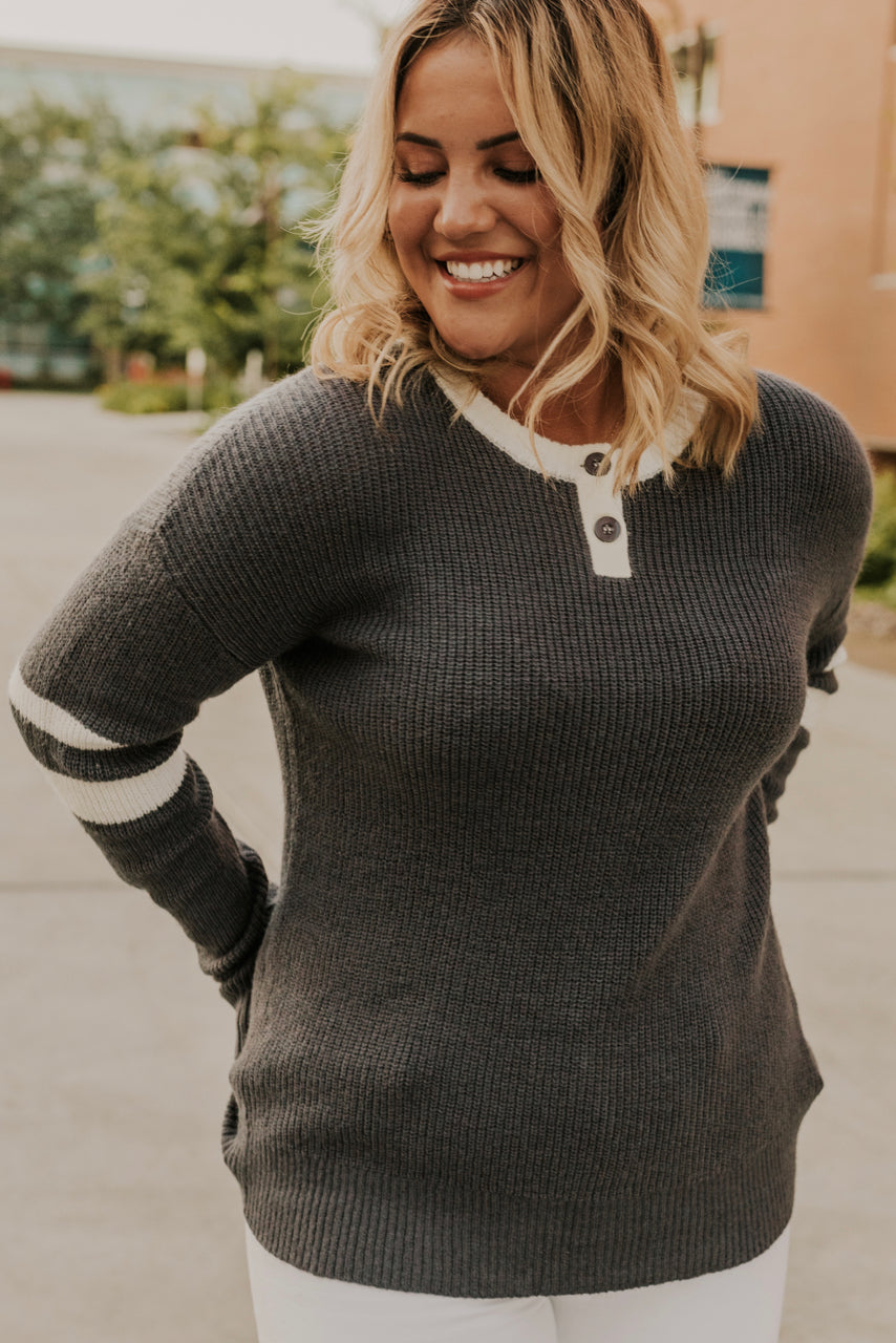 Grey Detail Sweater | ROOLEE