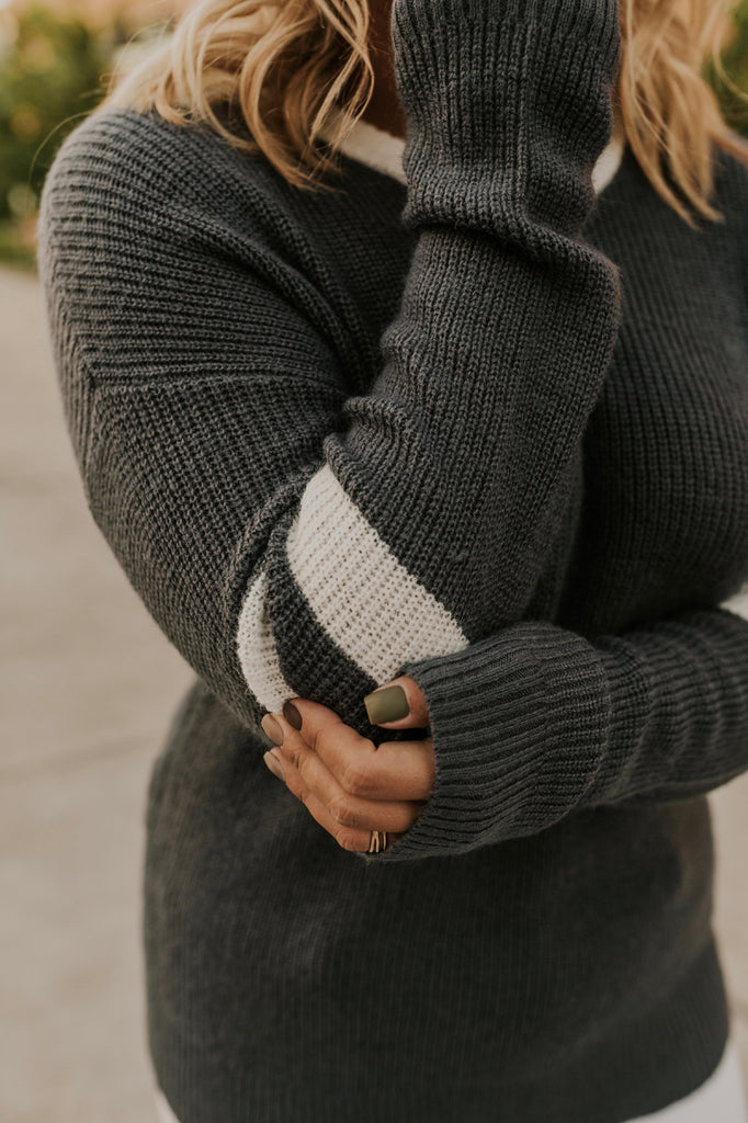 Grey Long Sleeve Sweater | ROOLEE