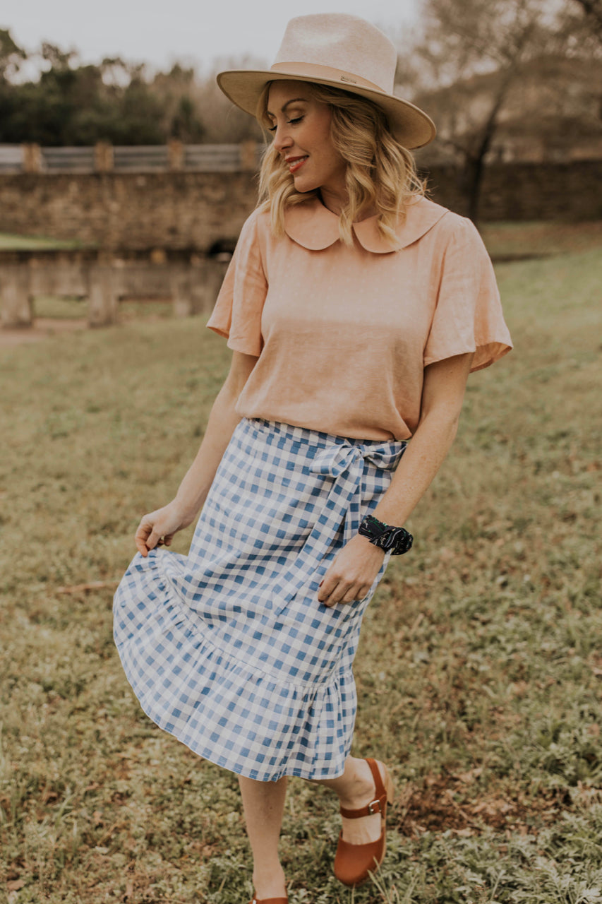 Gingham Skirt Outfit Idea | ROOLEE