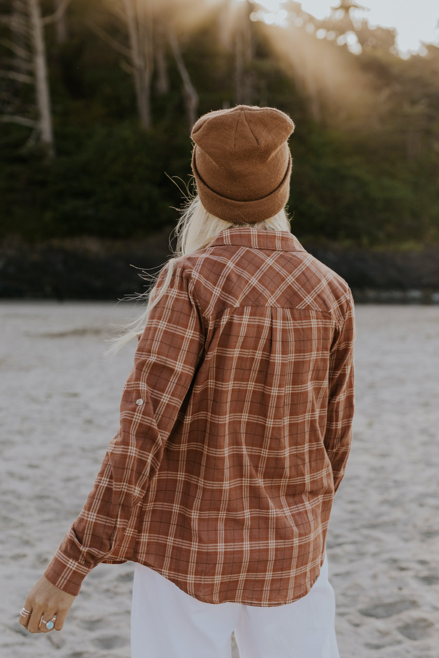 Button Up Flannel Tops | ROOLEE
