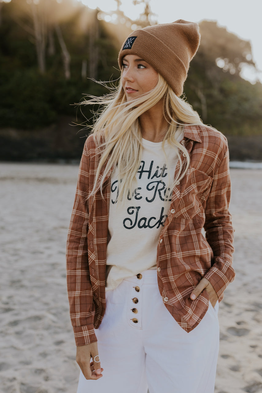 Cute Feminine Flannel Tops | ROOLEE