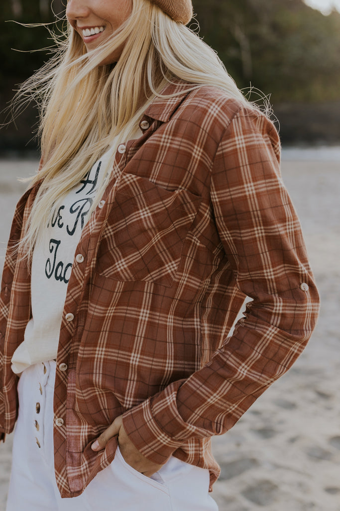 Oversized Cute Flannel | ROOLEE
