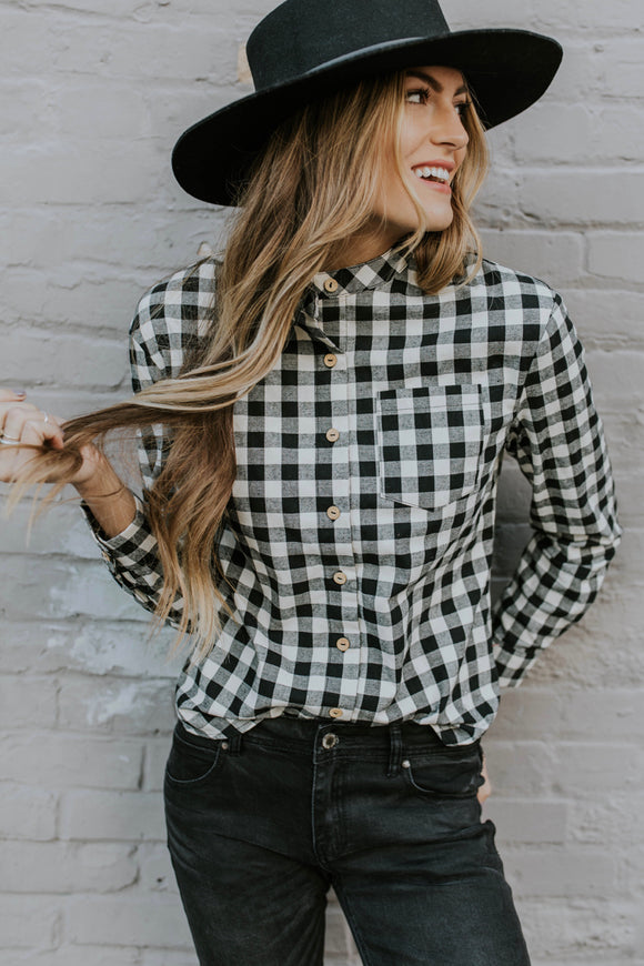 Annika Plaid Top | ROOLEE
