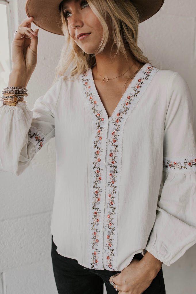 Blume Embroidered Top | ROOLEE Tops