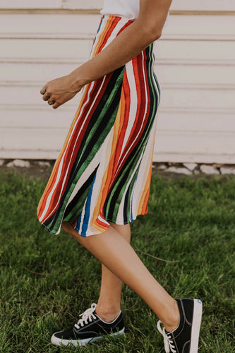 Striped Summer Skirt | ROOLEE