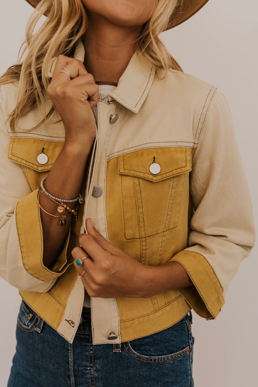 Mustard Denim Jacket | ROOLEE