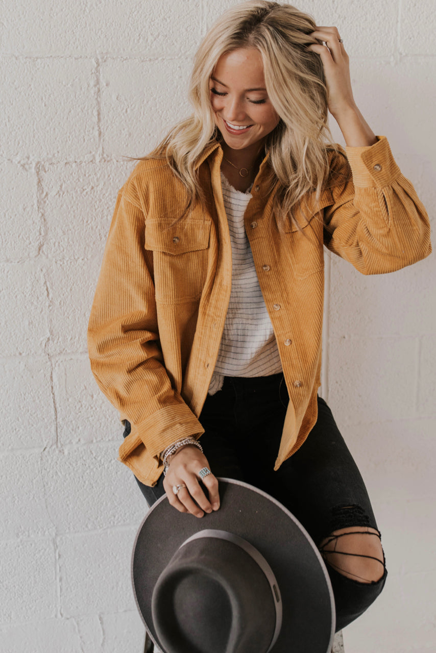 Mustard Jacket Outfit | ROOLEE