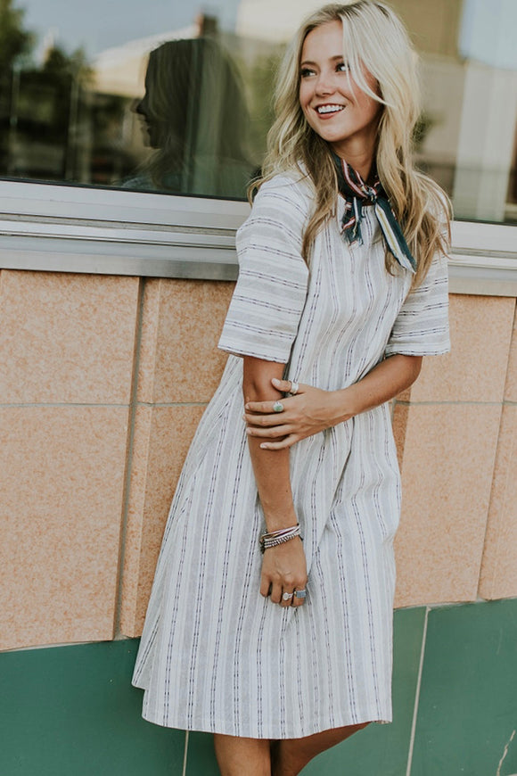 A Thousand Miles Stripe Dress | ROOLEE