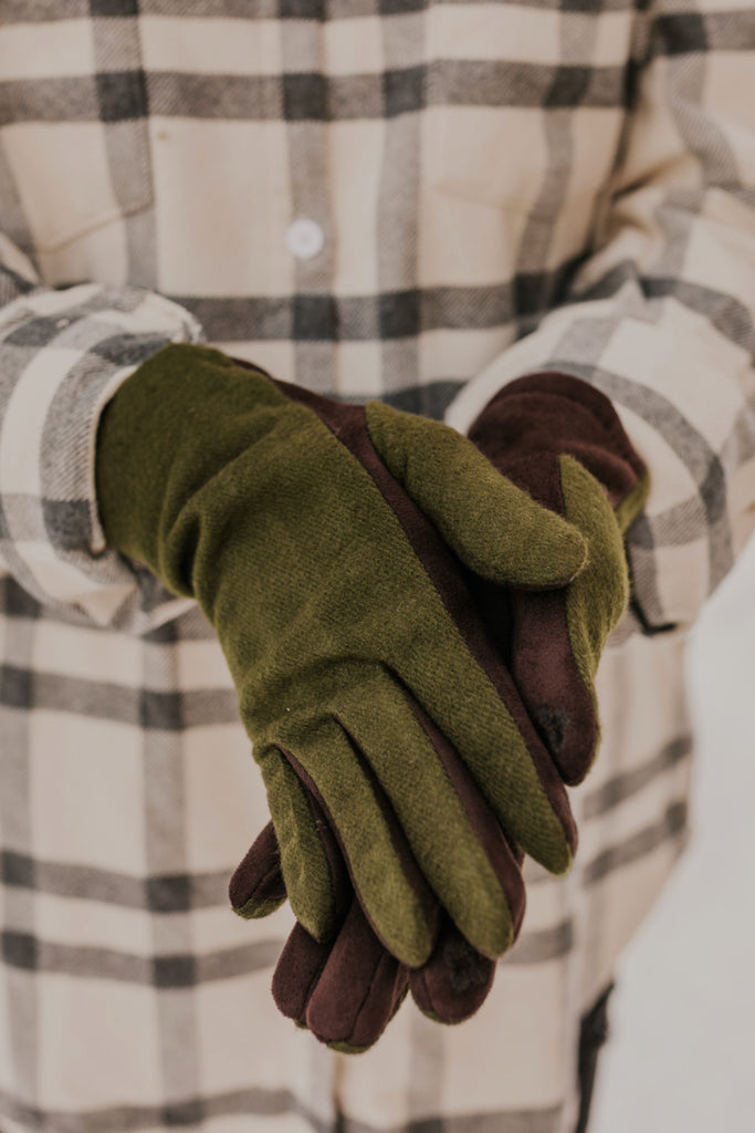 Olive Green Winter Accessories | ROOLEE