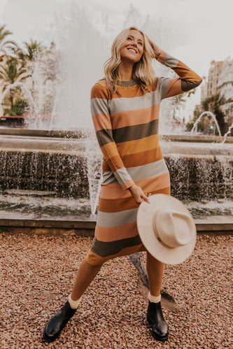 Stripe Midi Dress | ROOLEE