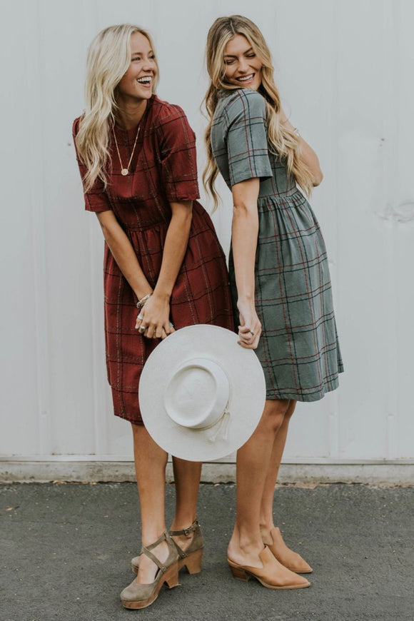 Monaco Grid Dress | ROOLEE Dresses