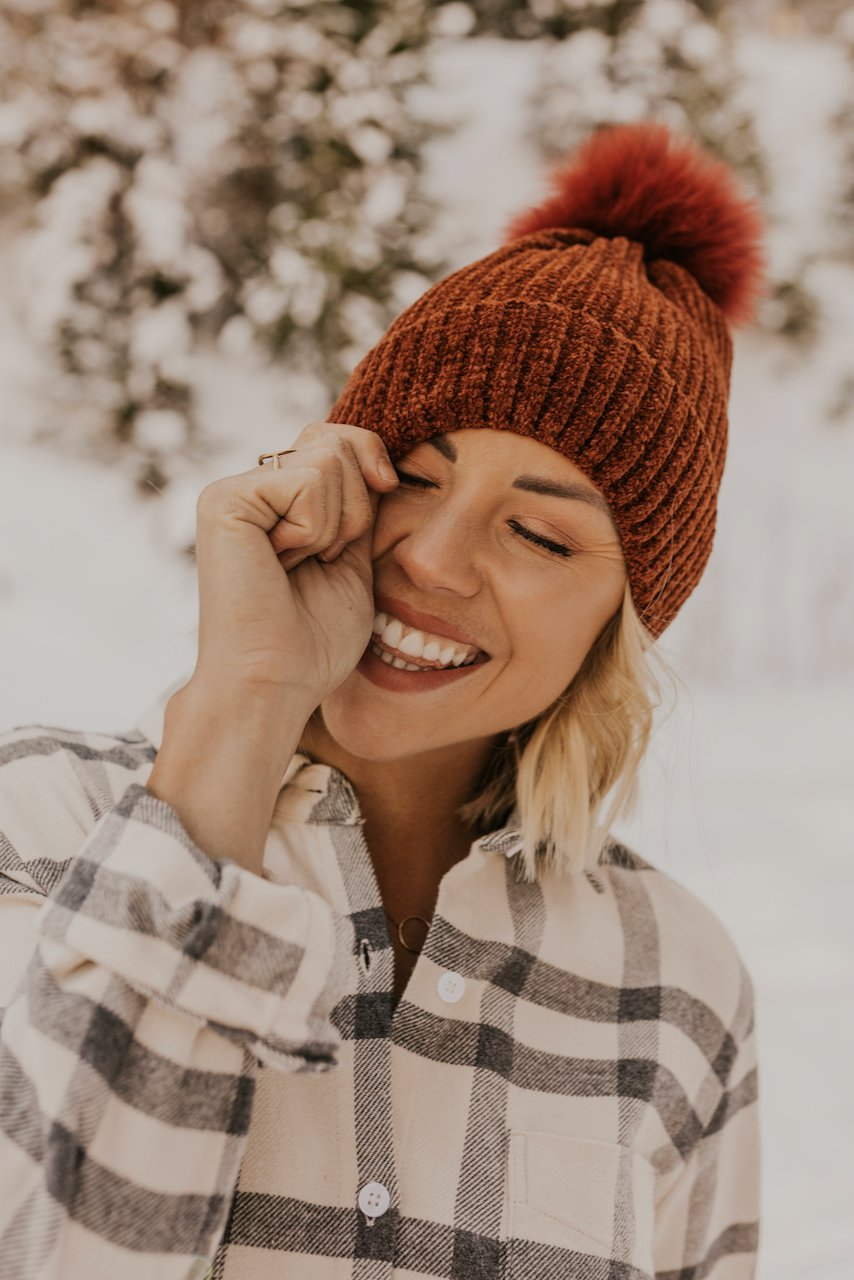 Pom Pom Red Rust Hat | ROOLEE
