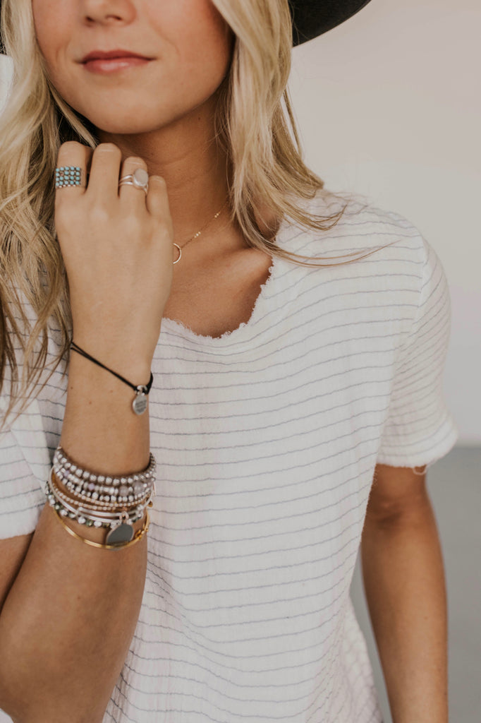 White Stripe Top Ideas | ROOLEE