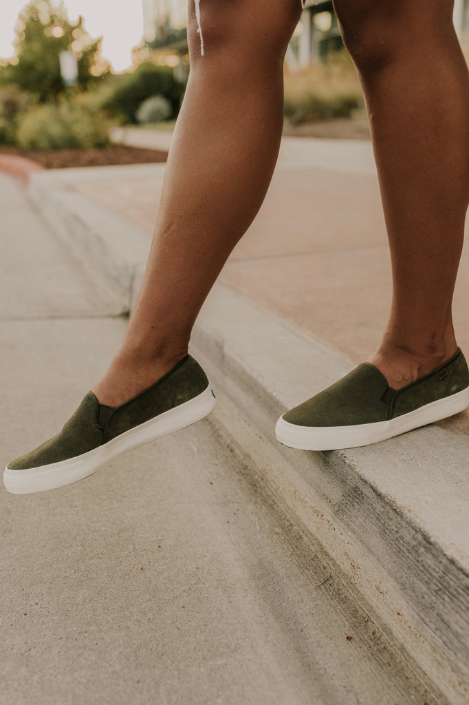 Suede Slip On Shoes | ROOLEE
