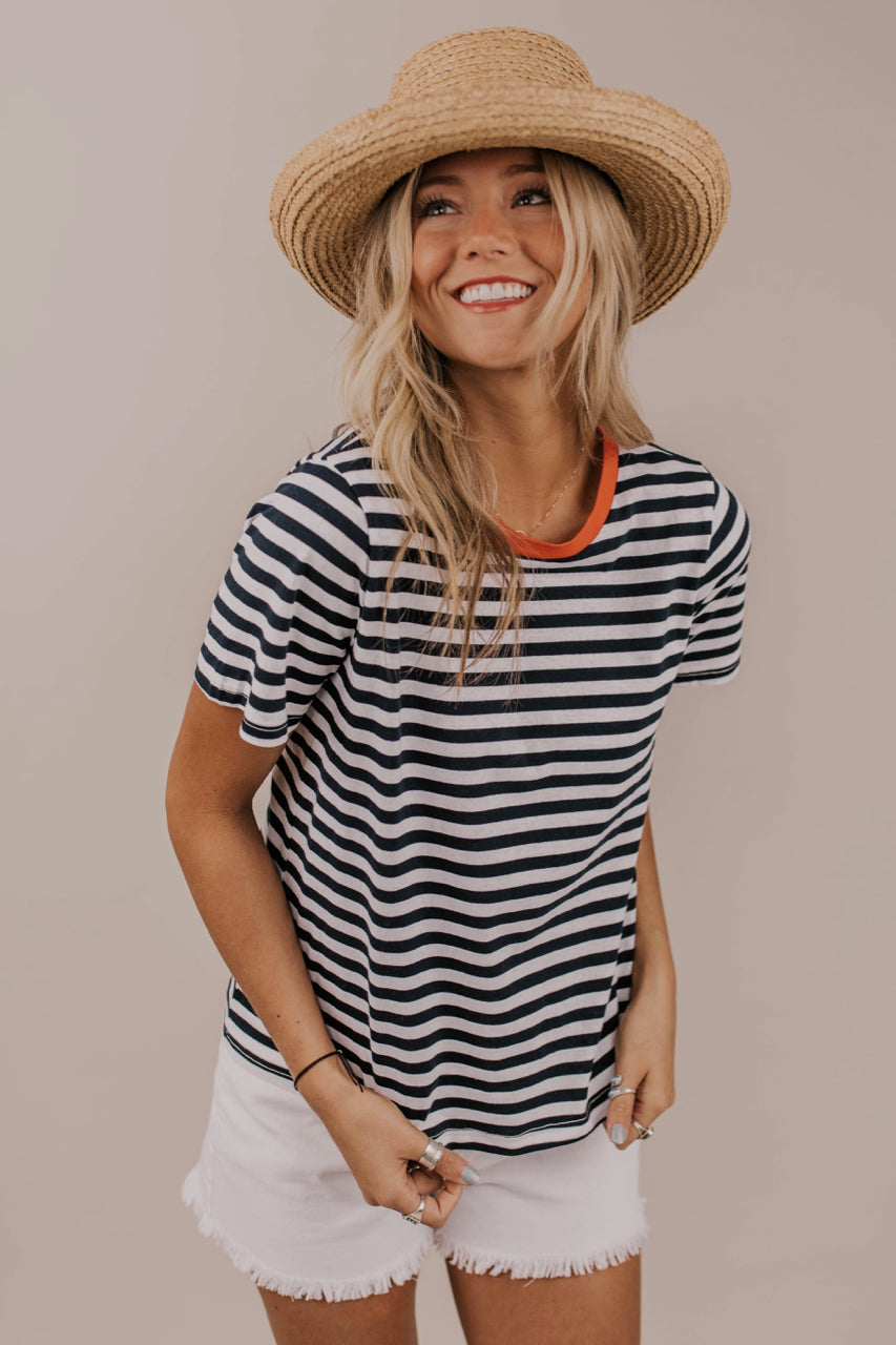 Simple Stripe Tee | ROOLEE